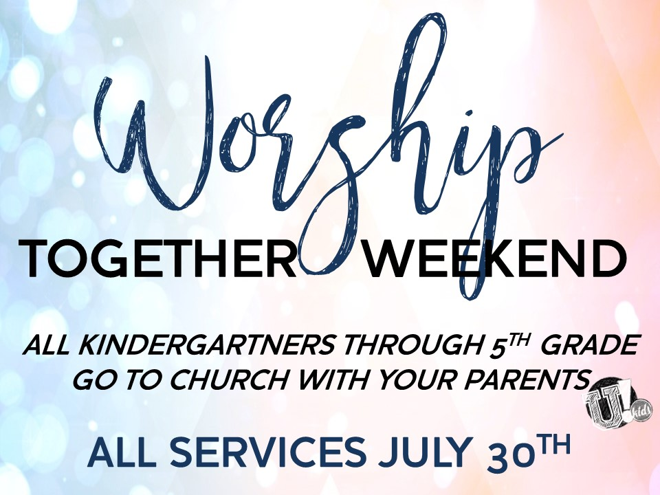 Worship Together Weekend_Sign